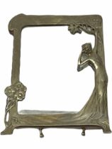 Art Nouveau style mirror in the manner of WMF