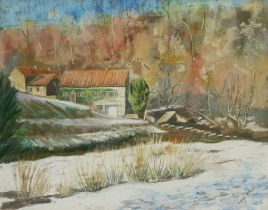 Penny Wicks (British 1949-): 'Darnholme in Winter' near Whitby