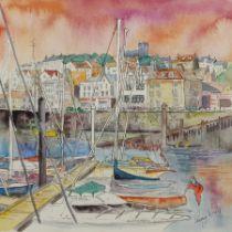 Penny Wicks (British 1949-): 'Scarborough Marina'