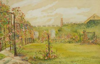 Austin Smith (British early 20th century): Garden Scene