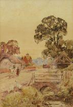 Henry John Yeend King (British 1855-1924): Geese and Horse on a Village Street