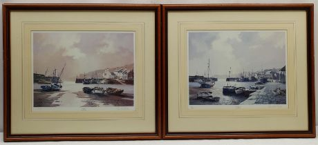 Don Micklethwaite (British 1936-): 'Low Tide' and 'Evening Harbour'