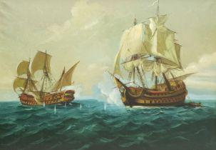 English School (20th century): Naval Battle