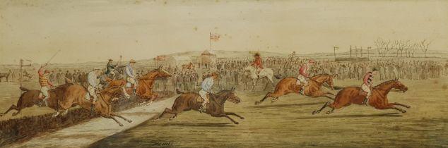 F L Hill (British 19th century): The Steeplechase
