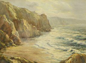 William F Piper (British c1900-1967): Seascape near Kynance Cornwall