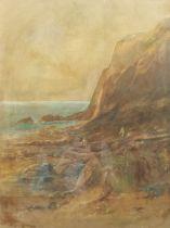 Albert Pollitt (British 1856-1926): 'The Gleaners' on the Shore