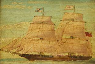 English School (19th century): Sailing Ship's Portrait