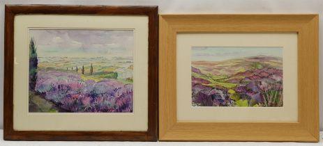Penny Wicks (British 1949-): 'Lavender Fields Terrington'