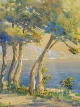 Italian School (Early 20th century): Riviera Landscape