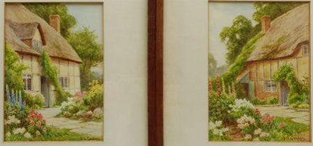 Sidney Valentine Gardner (Staithes Group 1869-1957) Thatched Cottage Gardens