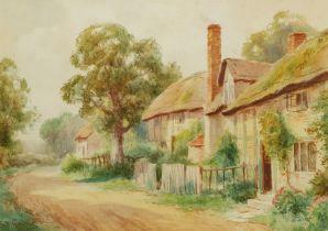 Sidney Valentine Gardner (Staithes Group 1869-1957): Thatched Cottages