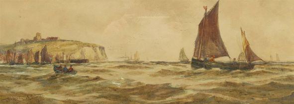 T B Hardy (British 1842-1897): 'Off Scarborough'