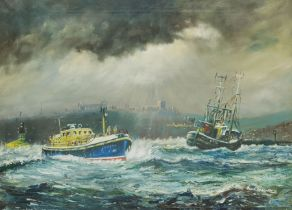 James Lishman after Jack Rigg (British 1927-): 'A Safe Return Home' Whitby