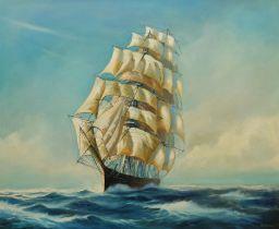 Michael Whitehand (British b.1941): Clipper in Full Sail