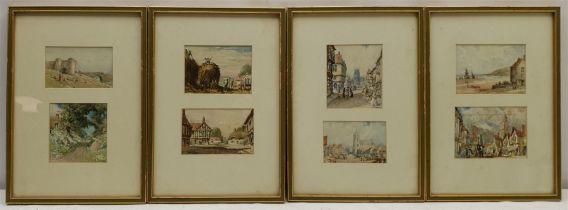 C Jones (British mid 20th century): Land and Townscape Views