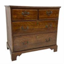 Small Georgian oak chest