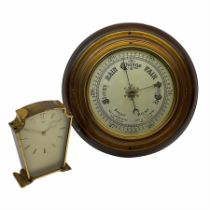 A mid-20th century hall barometer with a compensated Aneroid movement