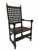 18th century joined oak carver armchair