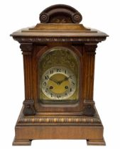 Early 20th century eight-day Junghens quarterly chiming mantle clock