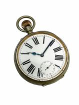 Goliath pocket watch in a nickel case numbered 1966970
