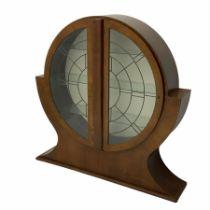 Art Deco walnut moon cabinet
