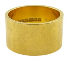 22ct gold wide wedding band