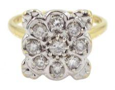 18ct gold round brilliant cut diamond