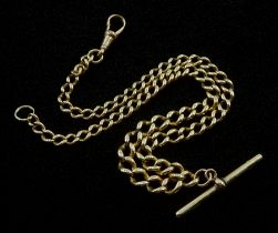 Early 20th century 9ct gold Albert chain with clip