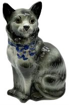 Staffordshire model of a seated cat