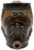 19th century stoneware spirit barrel