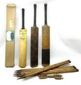 Cricket bat with Bob Simpson autograph