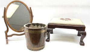 Early 20th century mahogany footstool