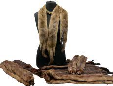 Seven full body mink stoles