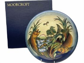 Moorcroft charger of circular form