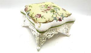 Victorian style cast iron stool