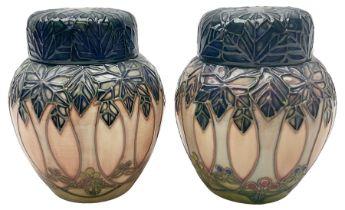 Two Moorcroft ginger jars