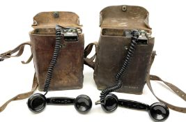 Two US signal Corps (US army) WWII era field telephones