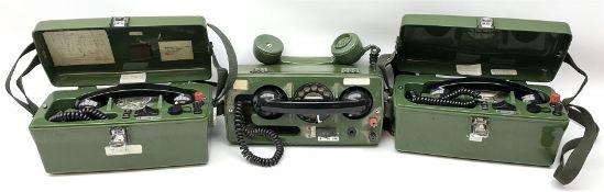 Three field telephones