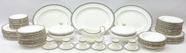 Wedgwood tea and dinner wares decorated in the Black Ulander pattern