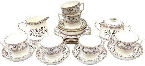 Royal Crown Derby Brittany pattern tea wares