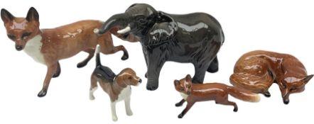 Five Beswick figures