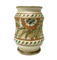 Crown Ducal vase decorated in 'Tudor Rose' pattern by Charlotte Rhead