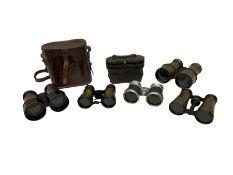 Group of binoculars and opera glasses