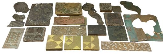 Printing blocks from the Chard studio collection Provenance: studio collection of the late William