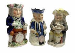 Three 19th Century Toby jugs