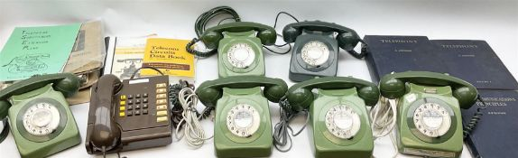 Collection of vintage telephones