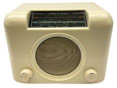 Bush Bakelite radio in cream H23cm