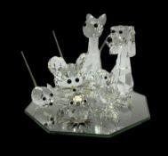 Swarovski crystal cat