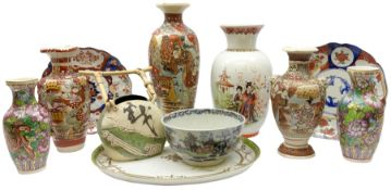 Collection of mostly Oriental ceramics