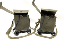 Two US signal Corps (US army) field telephones